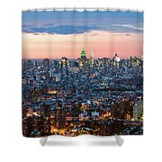 Aerial Of Midtown Manhattan With Empire State Building, New York Shower Curtain
