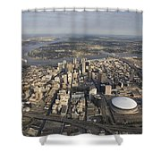Aerial Of New Orleans Looking East Shower Curtain
