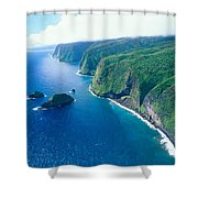 Aerial Of North Shore Shower Curtain