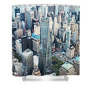 Aerial Of One World Trade Center, New York, Usa Shower Curtain