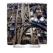 Aerial Of The Maze Near The Bay Bridge, San Francisco Shower Curtain
