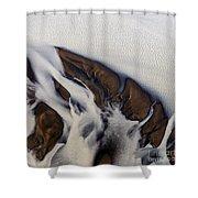 Aerial Photo Thjosa Iceland Shower Curtain