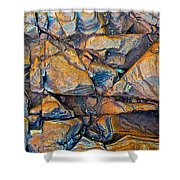 Aerial Rock Abstract Shower Curtain