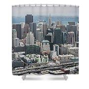 Aerial San Francisco Shower Curtain