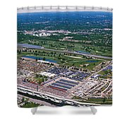 Aerial View Of A Racetrack Shower Curtain