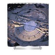 Aerial View Of Ancient Roman Theater Shower Curtain