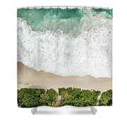 Aerial View Of Anse Intendance - Mahe - Seychelles Shower Curtain