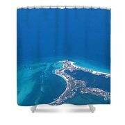 Aerial View Of Cancun Shower Curtain