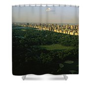 Aerial View Of Central Park, An Oasis Shower Curtain