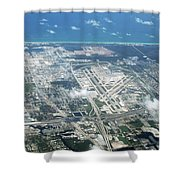 Aerial View Of Fort Lauderdale Airport. Fll Shower Curtain
