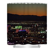 Aerial View Of Las Vegas City Shower Curtain