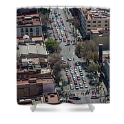 Aerial View Of Mexico Cityscape Shower Curtain
