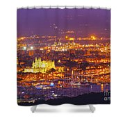 Aerial View Of Palma Of Majorca Shower Curtain