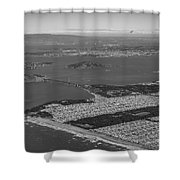 Aerial View Of San Francisco Downtown Cityscape Shower Curtain