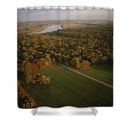 Aerial View Of Shiloh. The Tennessee Shower Curtain