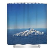 Aerial View Of Snowy Mountain Shower Curtain