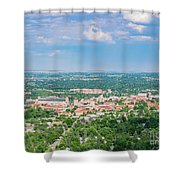 Aerial View Of The Beautiful University Of Colorado Boulder Shower Curtain
