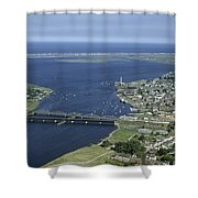 Aerial View Of The Mouth Of Merrimack Shower Curtain