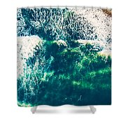 Aerial View Of The Ocean Shower Curtain