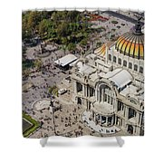 Aerial View Of The Palace Of Fine Arts Shower Curtain