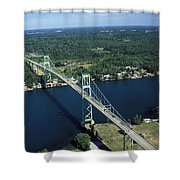 Aerial View Of The Thousand Island Shower Curtain