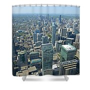 Aerial View Of Toronto Looking North Shower Curtain