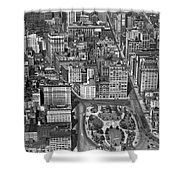 Aerial View Of Union Square Shower Curtain