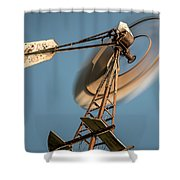 Aermotor Windmill Shower Curtain