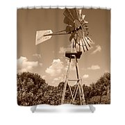 Aermotor Windmill Shower Curtain