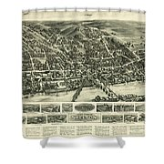 Aero View Of Watertown, Connecticut  Shower Curtain