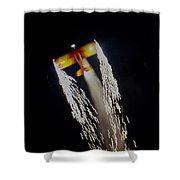 Aerobatics With Firework Shower Curtain
