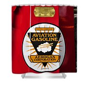 Aerogas Red Pump Shower Curtain