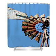 Aeromotor In Color Shower Curtain