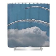 Aeroshell Aerobatics Shower Curtain