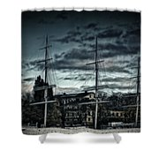 Af Champman At Afternoon Shower Curtain