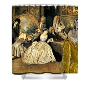 Afghan Hound-at The Artdealer's Shop Canvas Fine Art Print Shower Curtain