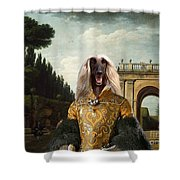 Afghan Hound-the Afternoon Promenade In Rome  Canvas Fine Art Print Shower Curtain