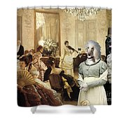 Afghan Hound-the Concert  Canvas Fine Art Print Shower Curtain