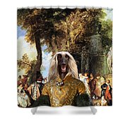 Afghan Hound-the Winch Canvas Fine Art Print Shower Curtain