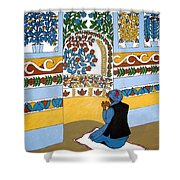 Afghan Mosque Shower Curtain
