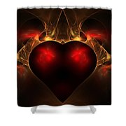 Aflame Shower Curtain