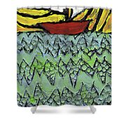 Afloat On The Bubbling Sea Shower Curtain