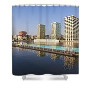 Afloat Swimming Pool Shower Curtain