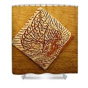 Afraid - Tile Shower Curtain