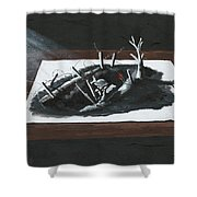 Afraid In The Darkness Shower Curtain
