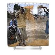 Africa, Ethiopia, Woman And Boy Shower Curtain