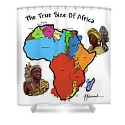 Africa In Perspective Shower Curtain