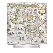 Africa Nova Map Shower Curtain