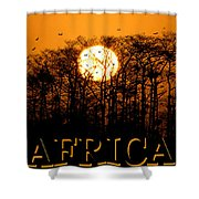 Africa Smart Phone Work A Shower Curtain