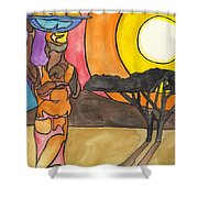 Africa Women Shower Curtain